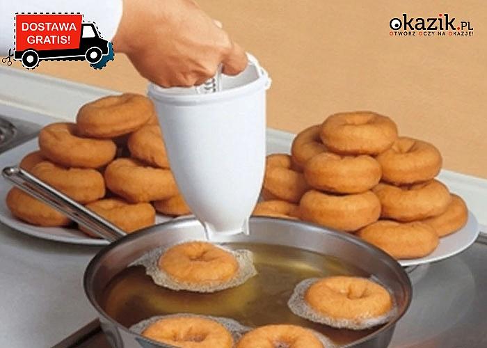 Praktyczne urządzenie do samodzielnego wykonania amerykańskich pączków typu donut