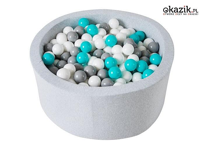 Piankowy basen z miękkimi, kolorowymi piłeczkami! Dwa kolory do wyboru!