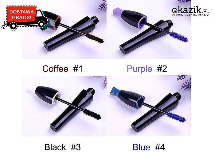 Przyciągaj spojrzenie innych! Kolorowe tusze do rzęs! 4 kolory do wyboru!