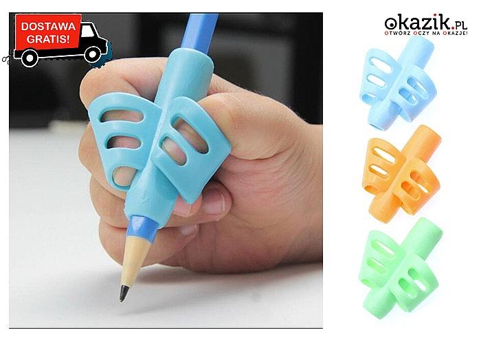 HIT! Silikonowy uchwyt do nauki pisania dla dzieci!