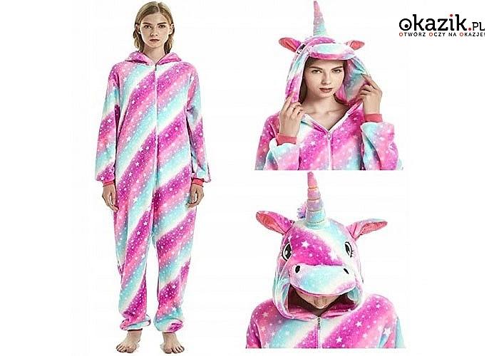 Dla wszystkich fanów jednorożców! Onesie – różowy unicorn! 4 rozmiary do wyboru!