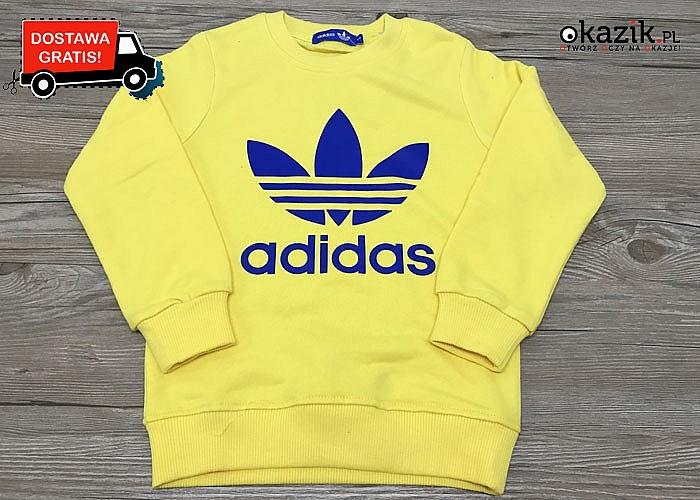 Dresowa bluza dziecięca marki ADIDAS