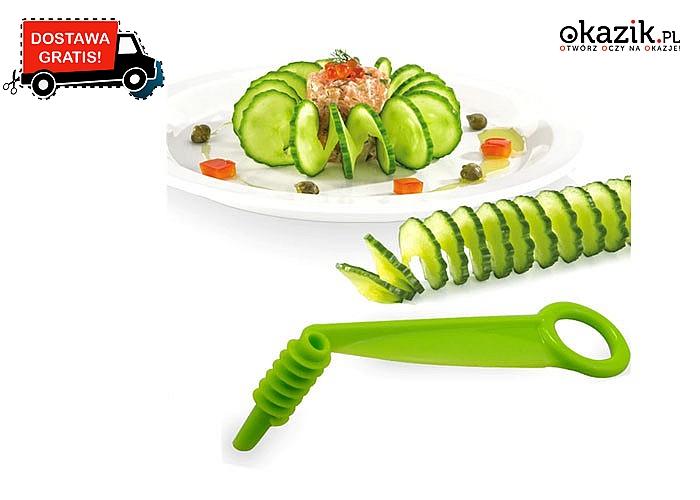 Ręczna spirala do krojenia warzyw , dzięki niej Twoje potrawy będą wyglądały elegancko oraz apetycznie