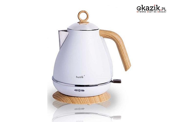 Hit! Czajnik elektryczny Husla! 1.5 lub 1.7L! Piękny klasyczny design! Doskonały do każdej kuchni!