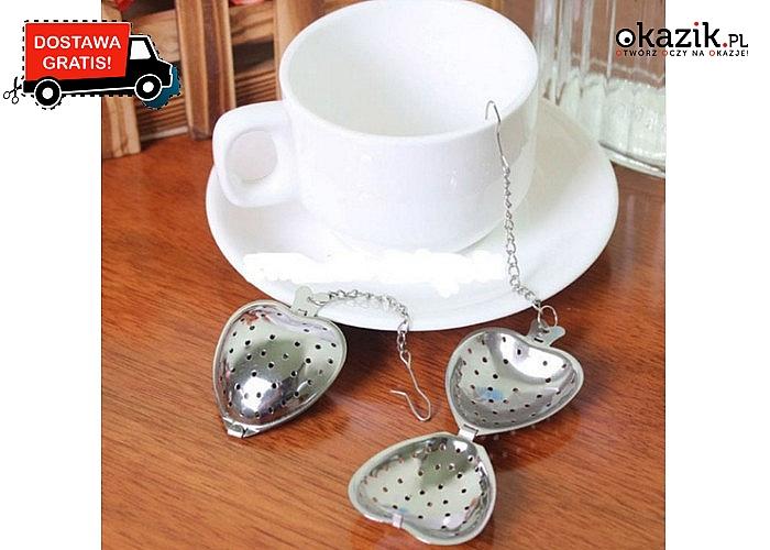 Zaparz idealną herbatę i ciesz się jej smakiem! Zaparzacz w kształcie serca.