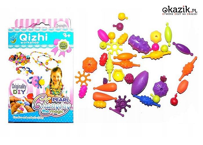 Pobudź kreatywność Twojego dziecka! Koraliki do robienia bransoletek! Doskonała zabawa!