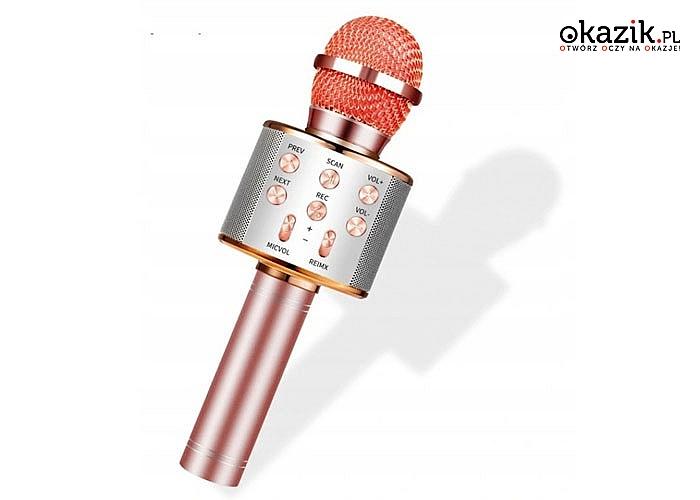 Bezprzewodowy MIKROFON na bluetootha z głośnikiem i możliwością przetwarzania dźwięku
