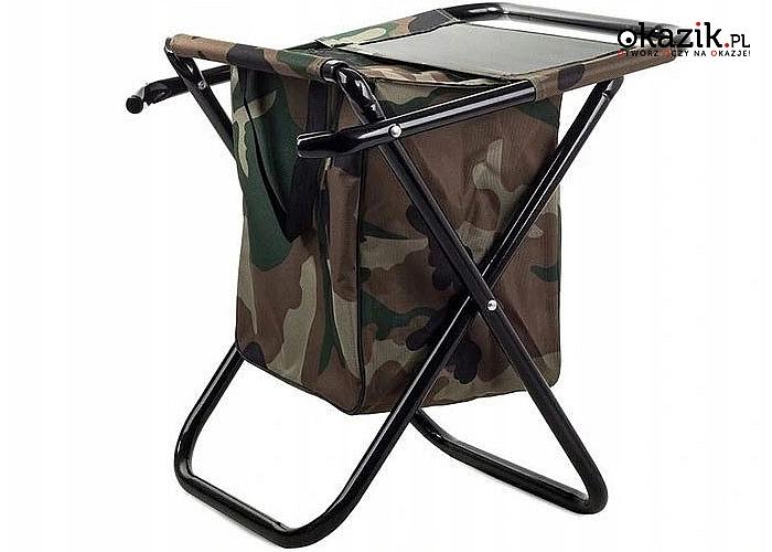 Składane krzesełko, niezbędne dla każdego wędkarza oraz przydatne turyście czy na koncerty i spotkania w plenerze