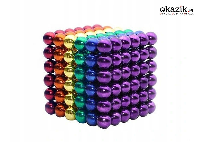Zestaw 216 kulek z silnych magnesów neodymowych, który zapewni Ci wiele godzin świetnej zabawy umysłowej