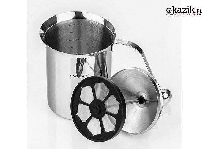 Sam zrób idealną kawę i ciesz się jej smakiem! Spieniacz do mleka, stalowy garnek!