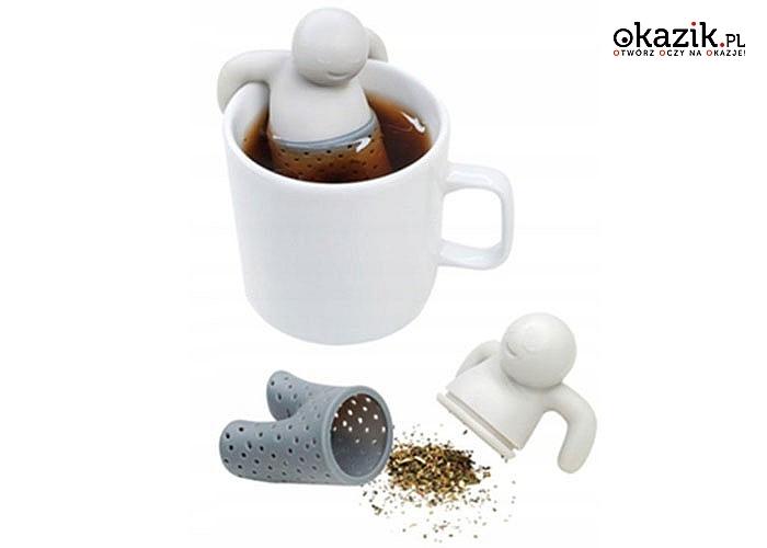 Zaparzacz do herbaty i ziół w kształcie ludzika! Praktyczny i wygodny w użyciu.
