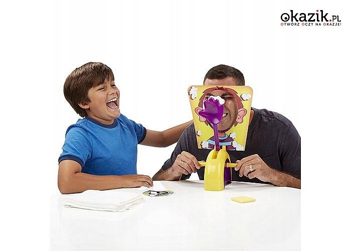Ciastem w twarz! Rodzinna gra towarzyska! Podejmij ryzyko i baw się świetnie!