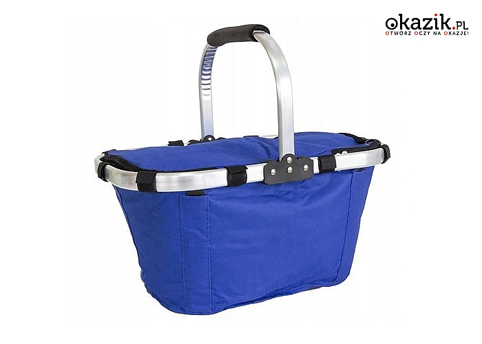 Koszyk biwakowy z termiczna osłoną, niezbędny podczas letnich pikników, plażowania czy biwakowania