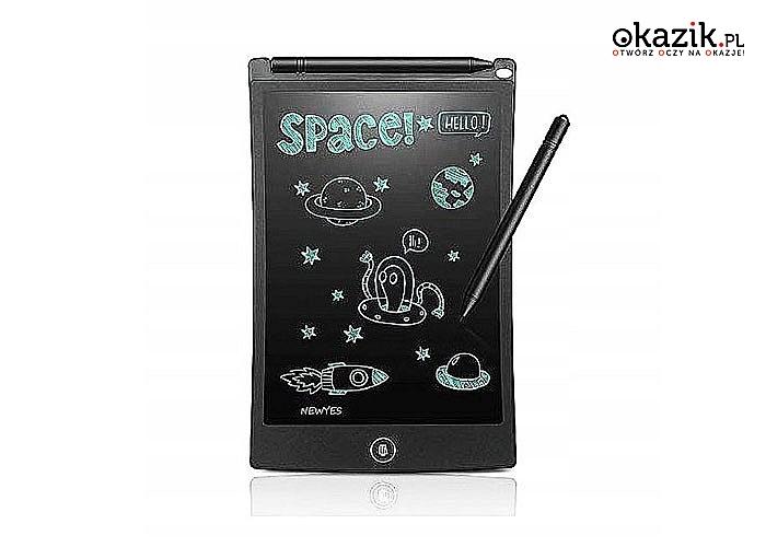 """Tablet graficzny do rysowania z ekranem LCD 8,5"""". Rysik w komplecie!"""