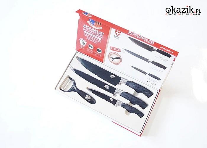 Elegancki zestaw noży marki Eberbach z powłoką Non Stick! Dwa kolory o wyboru.