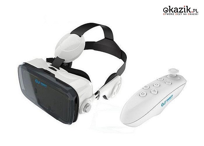 Gogle Garett VR4 + Pilot Bluetooth! Jedyne gogle z zintegrowanym zestawem słuchawkowym HI-FI! Odkryj świat wirtualny!