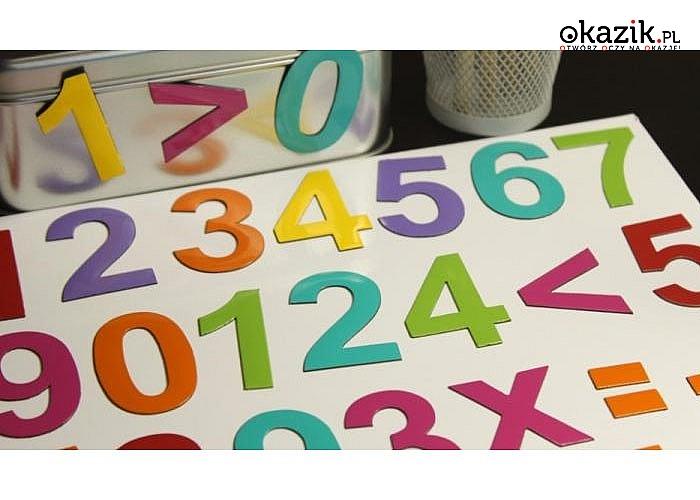 Cyfry magnetyczne , duże. Znakomita pomoc w nauce liczenia.