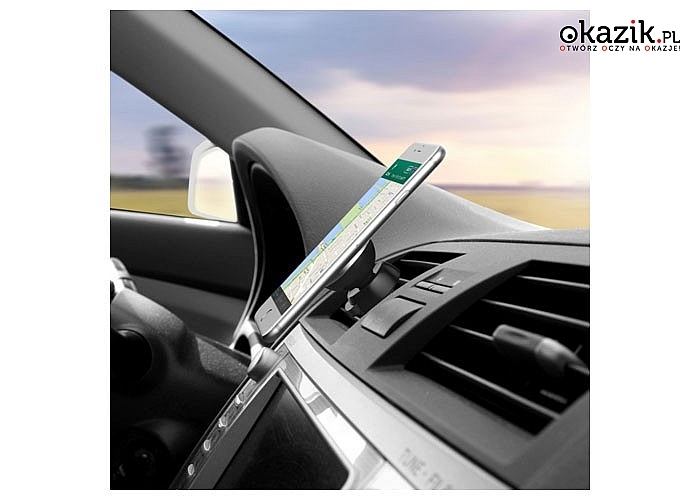 Nowoczesny i stabilny uchwyt magnetyczny do auta! Podróżuj komfortowo i ciesz się swoim telefonem!