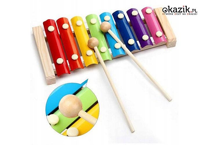Drewniane cymbałki dla dzieci! Kolorowe i bezpieczne!