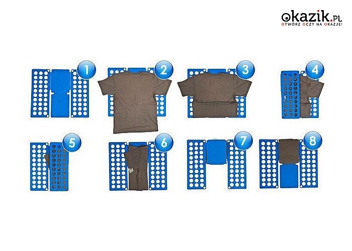Deska do składania! Idealnie poskładaj swoje ubrania w równą kostkę!