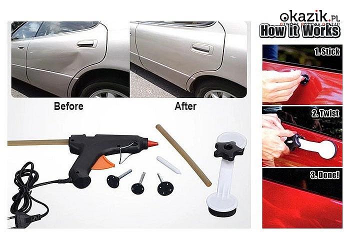 Zestaw naprawczy do samochodu PROPS-A-DENT. Sprawdzony sposób na usuwanie wgnieceń.