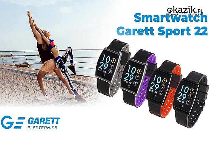 Smartwatch Garrett Sport 22! Wodoszczelny do ekstremalnych wyzwań! Utrzymaj kondycję! 4 kolory!