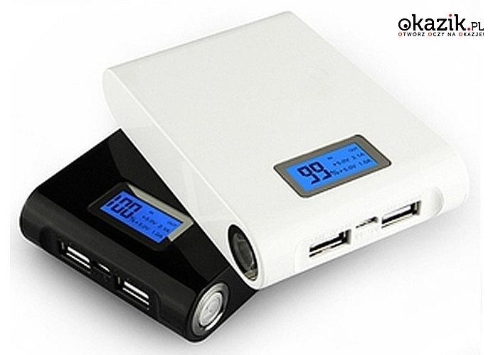 HIT! Power Bank 12000mAh! Wysokiej klasy bateria! Z dwoma wyjściami pozwalającymi naładować niemal każde urządzenie!