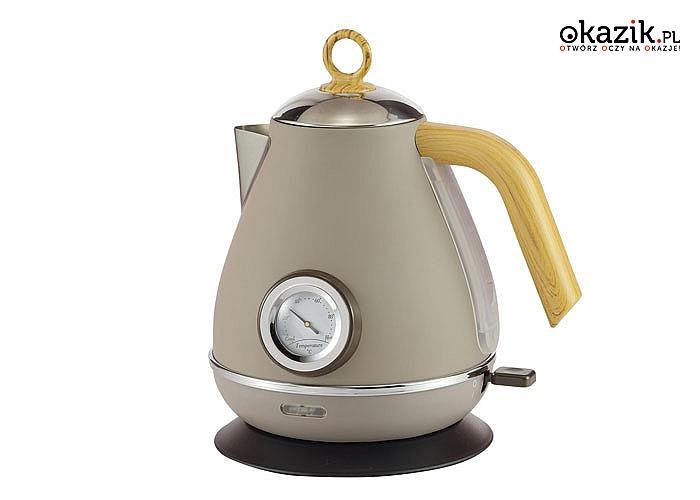 Ekskluzywny zestaw czajnik z chlebakiem Kassel cechuje solidne i estetyczne wykonanie oraz nowoczesny design