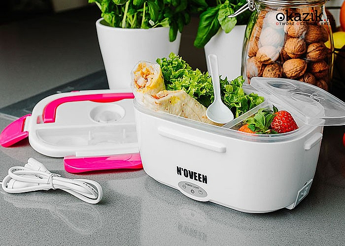 Elektryczny podgrzewacz do żywności! Z wyjmowanymi pojemnikami