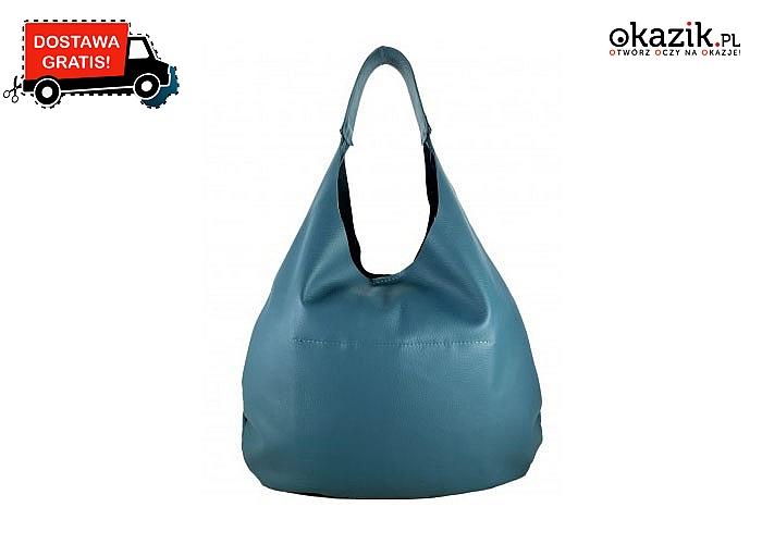 Skórzana torebka typu worek to bardzo praktyczny wybór jest niezwykle wygodna i zabierzesz ją ze sobą wszędzie