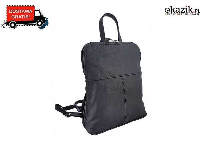 Torebka plecak 2w1 to hit od kilku sezonów praktyczna, wygodna i bardzo stylowa