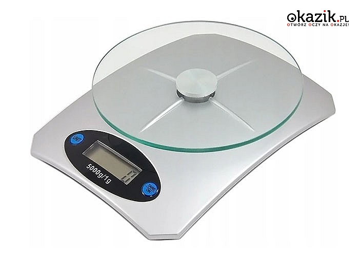 Elektroniczna waga kuchenna! Dokładność do 1g! Maksymalna waga 5 kg!Nowoczesny design!