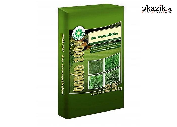 Nawóz przeznaczony do różnorodnych odmian traw, przy jego pomocy Twój trawnik stanie się gęsty oraz intensywnie zielony