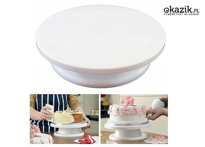 Ułatwiająca przygotowywanie i serwowanie! Obrotowa patera do ciasta!