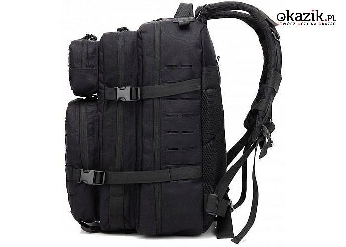Plecak wojskowy, idealny do wspinaczki! 40 l. Posiada trzy komory i dwie boczne kieszenie!