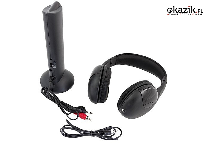 Słuchawki bezprzewodowe z mikrofonem, radiem FM, funkcją monitoringu i systemem sieciowego chatu!