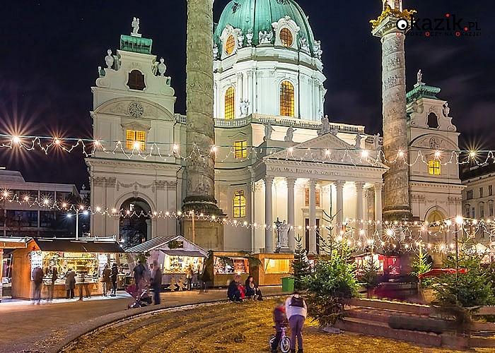 Jarmark Bożonarodzeniowy Wiedeń z noclegiem w Austrii BB. Przejazd, zwiedzanie i opieka w pakiecie.