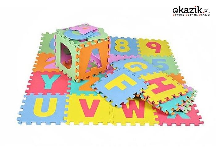 Dzięki tym piankowym puzzlom Twoje dziecko przekona się, że nauka może być przyjemna