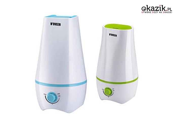 Nawilżacz ultradźwiękowy Noveen! Praca do 8 godzin! Możliwość używania olejków zapachowych!