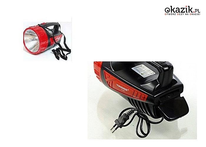 Mocna latarka akumulatorowa. Super jasne diody LED