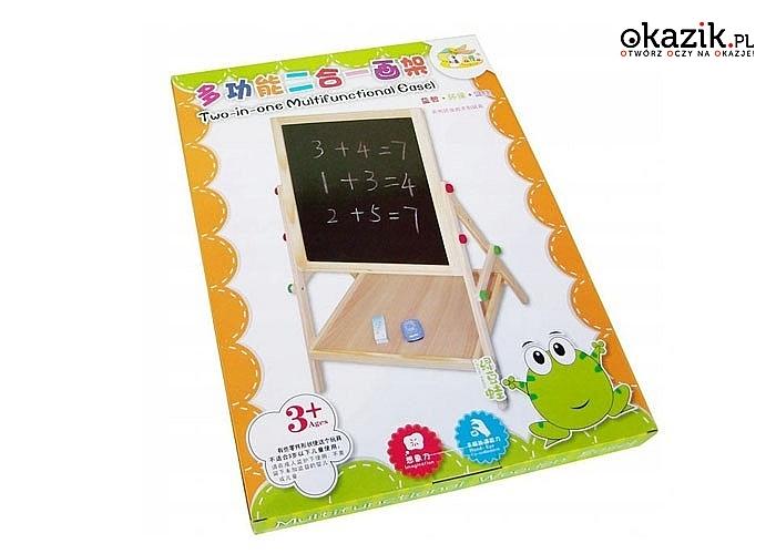 Dwustronna tablica edukacyjna to wiele godzin kreatywnej zabawy dla każdego dziecka
