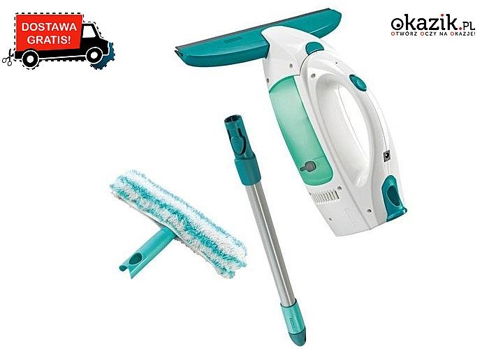 Leifheit Odkurzacz Elektryczny Do Okien, drążek, myjka to ekskluzywny zestaw do czyszczenia okien i płaskich powierzchni