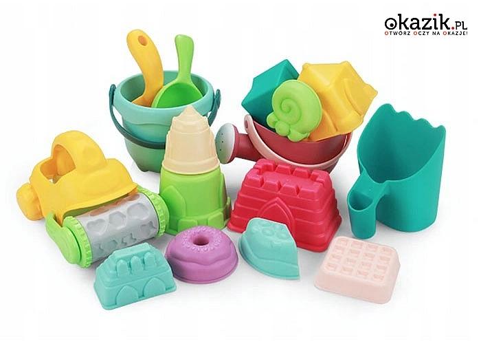Klocki 17 sztuk narzędzi idealne do letnich zabaw w piaskownicy