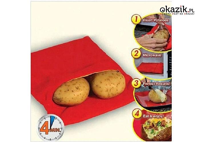 Super praktyczny rękaw do pieczenia ziemniaków w mikrofalówce w zaledwie 4 minuty