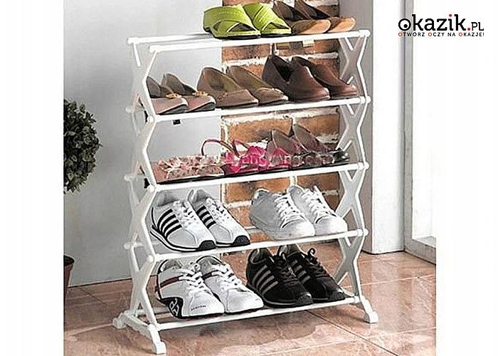 Wielopoziomowa półka na buty to niezbędny element wyposażenia każdego przedpokoju czy garderoby