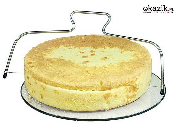 Z nią pokroisz ciasto na równe kawałki! Struna do krojenia biszkoptu.