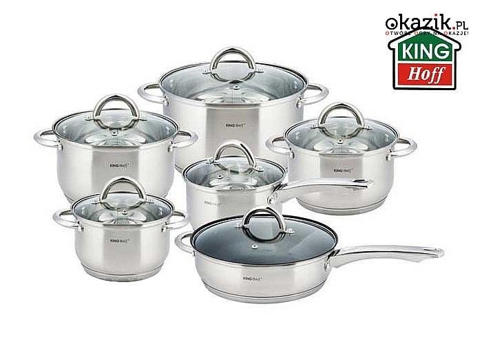 Wysokiej klasy garnki ze stali  nierdzewnej, Garnki nadają się na wszystkie rodzaje kuchni włącznie z kuchnią indukcyjną