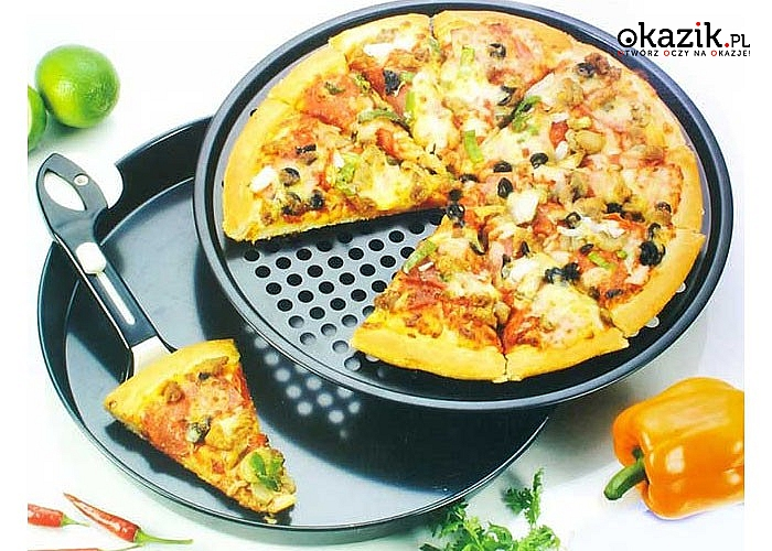 Dwuczęściowa, perforowana forma sprawi, że staniesz się prawdziwym mistrzem w pieczeniu smakowitej pizzy