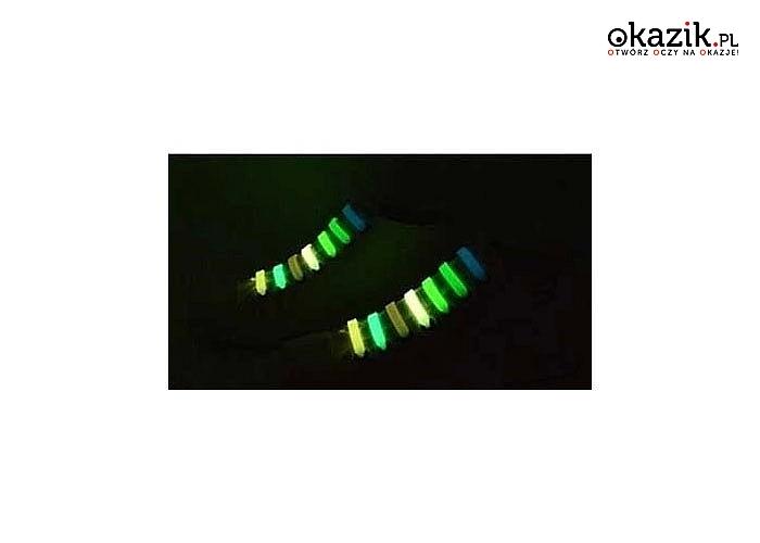Idealne dla dzieci! Sznurówki silikonowe do butów! Komplet 6 sztuk!  Świecą w ciemności!