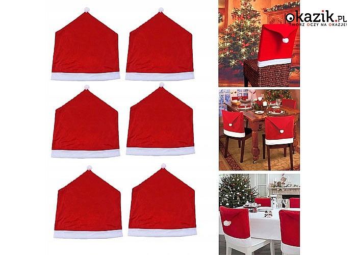 Świąteczna dekoracja tylna osłona na krzesło, świetnie sprawdzi się do domu i restauracji zapewniając magiczną atmosferę